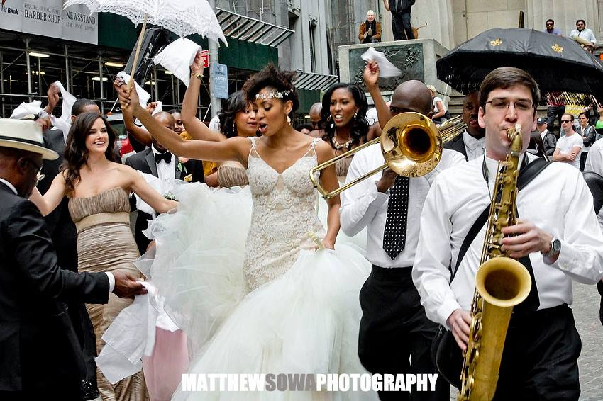 Wedding Second Line on Wall St!