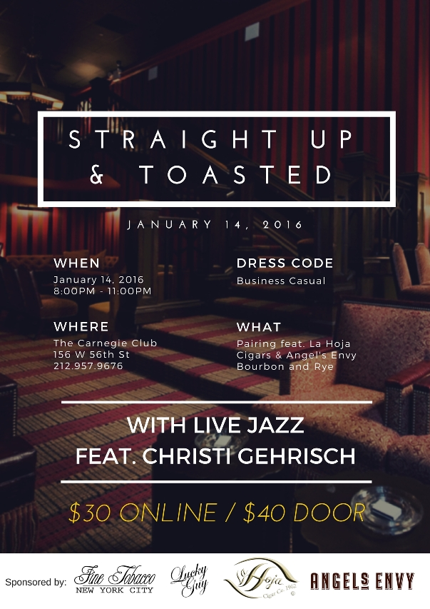 """Straight Up and Toasted!"" Featuring our singer Christi Gehrisch!"